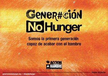 Somos la primera generación capaz de acabar con el hambre