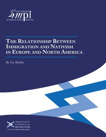 The RelaTionship BeTween immigRaTion naTivism euRope noRTh ameRica