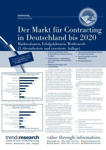Der Markt für Contracting in Deutschland bis 2020 - trend:research