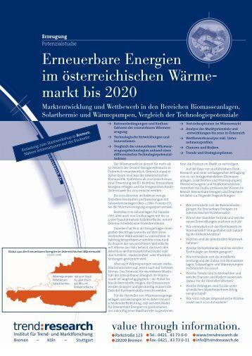 Erneuerbare Energien im österreichischen Wärme ... - trend:research