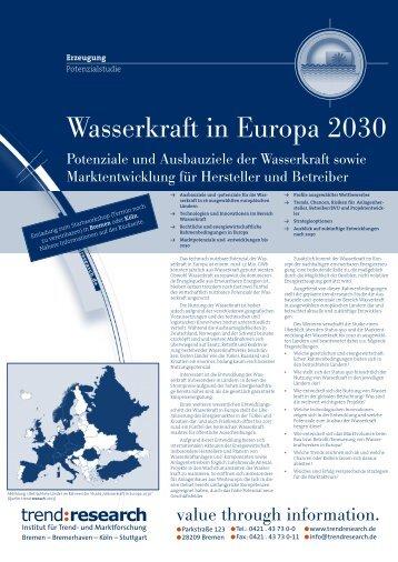 Wasserkraft in Europa 2030 - trend:research
