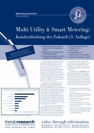 Multi Utility & Smart Metering: Kundenbindung der ... - trend:research