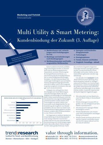 Multi Utility & Smart Metering: Kundenbindung der ... - trend:research