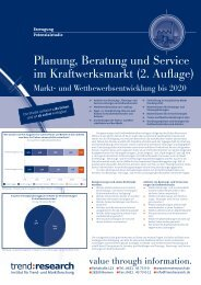 Planung, Beratung und Service im Kraftwerksmarkt ... - trend:research