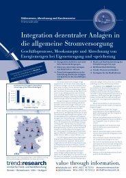 Integration dezentraler Anlagen in die allgemeine ... - trend:research