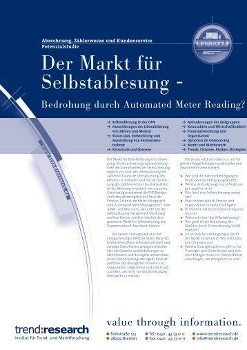 Der Markt für Selbstablesung - - trend:research