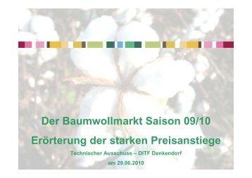 TVU Präsentation Baumwollpreisentwicklung