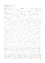 Antonio Provenzano architetto Francesco Cianfarani ... - Archiwatch