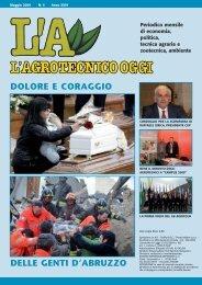 L'Agrotecnico Oggi maggio 09 - Collegio Nazionale degli Agrotecnici