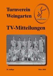 TV-Mitteilungen - TV Weingarten 1861 eV