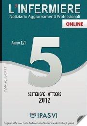 Rivista L'Infermiere N°5 - 2012 - Ipasvi