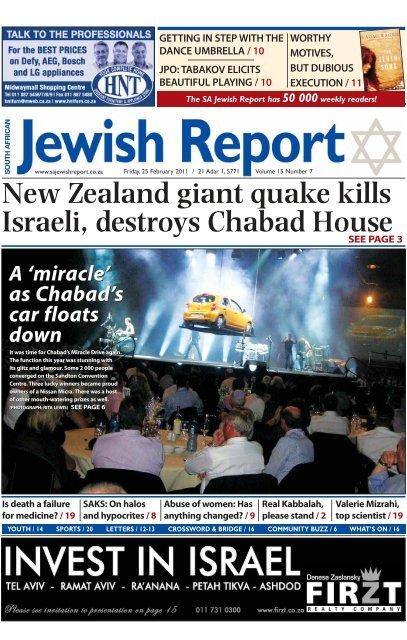 New Zealand giant quake kills Israeli, destroys Chabad House
