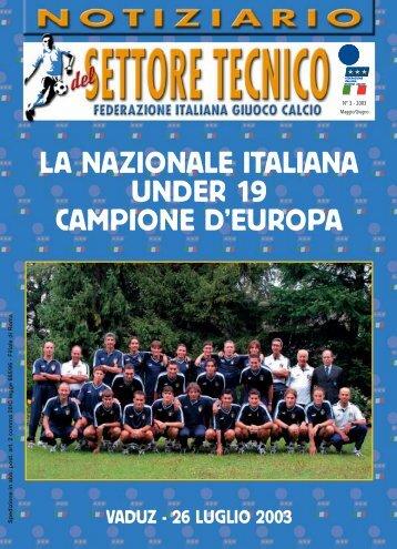 Imp. 4 Luglio-Agosto 2003 - FIGC Settore Tecnico Coverciano