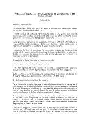 Tribunale di Napoli, sez. IX Civile, sentenza n. 855/11 - Rdes.It