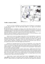 1. Tradire o rimanere fedeli - dott.ssa Stefania Samek Lodovici