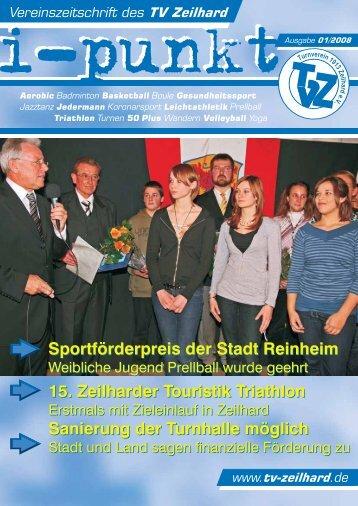 Sportförderpreis der Stadt Reinheim 15. Zeilharder ... - TV Zeilhard