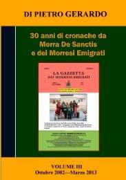 Di Pietro Gerardo 30 anni di cronache da Morra De Sanctis e dei ...
