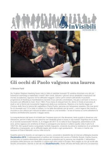 Gli occhi di Paolo valgono una laurea - Gian Maria Comolli