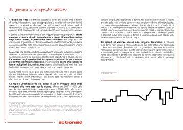 Il genere e lo spazio urbano - ActionAid