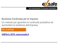 Business Continuity Management System by EXSAFE