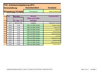 Halleneinweihung [pdf] - TV Zeilhard