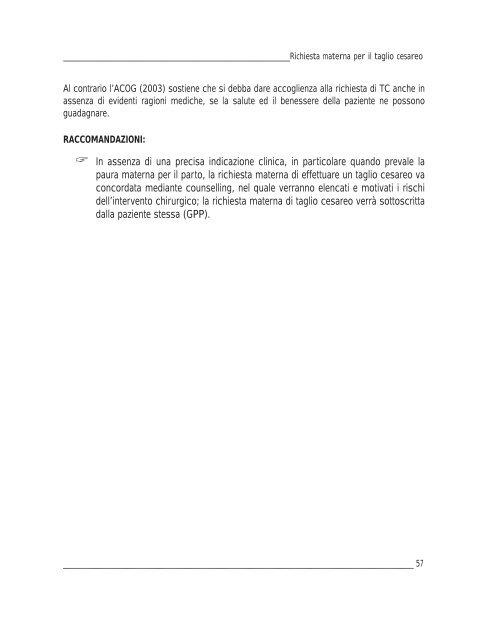 Linee guida sul taglio cesareo - Agenzia di Sanità Pubblica della ...