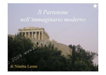 Il Partenone nell'immaginario moderno