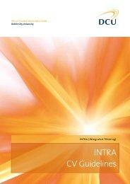INTRA CV Guidelines - Dublin City University