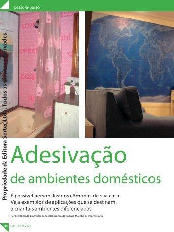 Adesivação de Ambientes Domésticos. - Aplike Produtos Adesivos