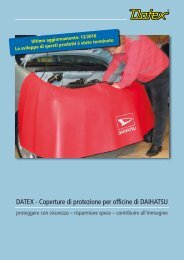 DATEX - Coperture di protezione per officine di DAIHATSU