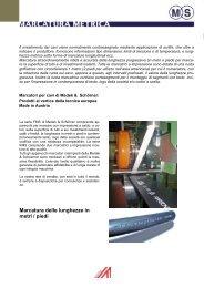 Opzioni per marcatori a metri e piedi - Medek & Schörner GmbH