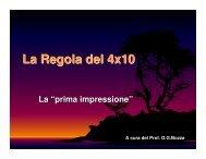 La Regola del 4x10 sulla prima impressione (pdf)