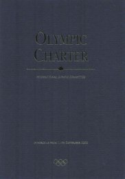 Olympic Charter 2000 - International Olympic Committee