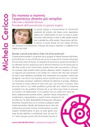 Michela Cericco - Volontariato Lazio