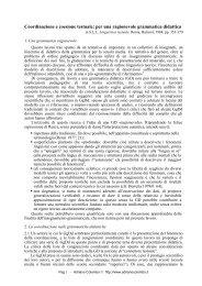 Coordinazione e coesione testuale: per una ... - Adrianocolombo.It