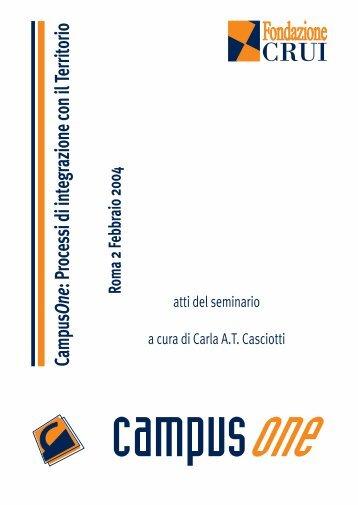 CampusOne. Processi di integrazione con il ... - Fondazione CRUI