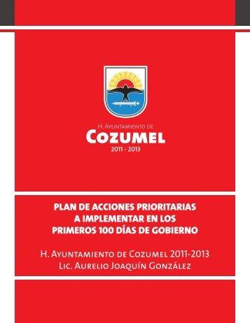 PLAN DE ACCIONES PRIORITARIAS A IMPLEMENTAR ... - Cozumel