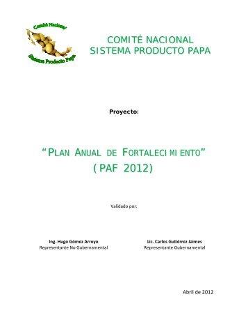 COMIT NACIONAL SISTEMA PRODUCTO PAPA - la Conpapa