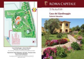 brochure informativa casa del giardinaggio - Comune di Roma