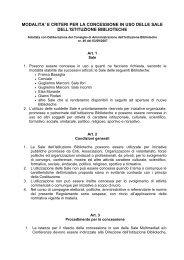 modalita' e criteri per la concessione in uso delle ... - Comune di Roma