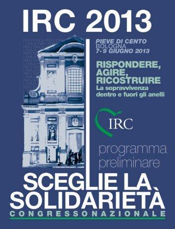 programma preliminare - I.R.C. Italian Resuscitation Council