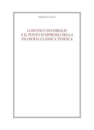 LUDOVICO FEUERBACH E IL PUNTO D'APPRODO ... - Filosofia.it