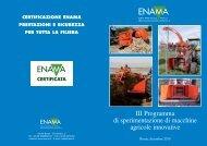 III Programma di sperimentazione di macchine agricole ... - Enama
