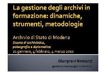 archivist - Sistema Archivistico nazionale