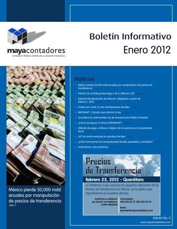 boletin maya - enero.cdr - Maya Bertin y Asociados