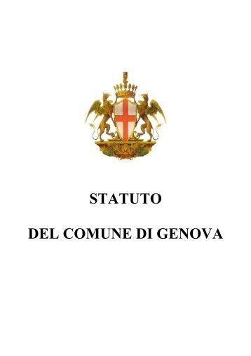 STATUTO DEL COMUNE DI GENOVA - Urban Center Genova ...