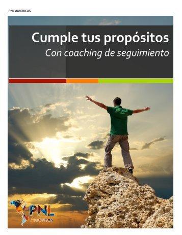 Cumple tus propósitos - PNL Américas