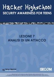 HHS - Lezione 7 - Analisi di un Attacco - Hacker Highschool