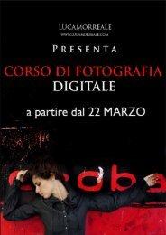 CORSO DI FOTOGRAFIA DIGITALE - LUCA MORREALE