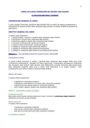 """corso on-line di formazione dei docenti neo-assunti - """"E.Majorana ..."""